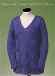 Moss and Diamond V-Neck Pullover