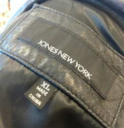 Jones New York 100% Leather Jacket