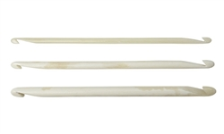 "HiyaHiya Nirvana 4"" Bone Double Ended Crochet Hooks"