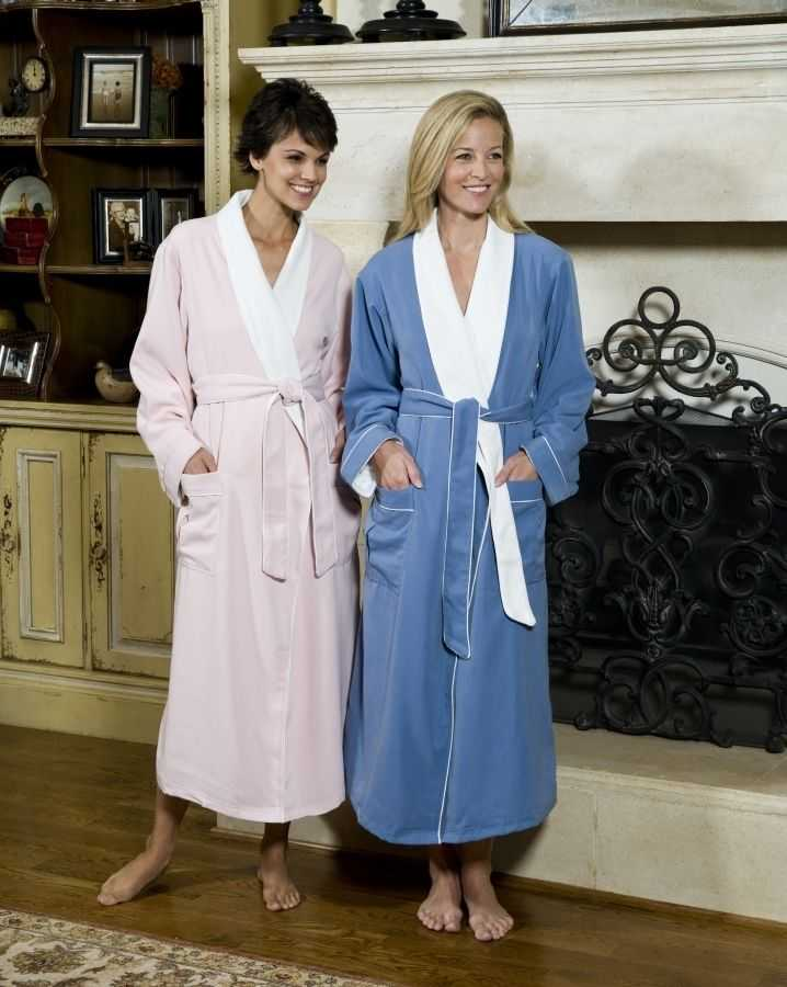 f775bddb2e Ultimate Doeskin Brushed Microfiber Bathrobe Lined in Terry