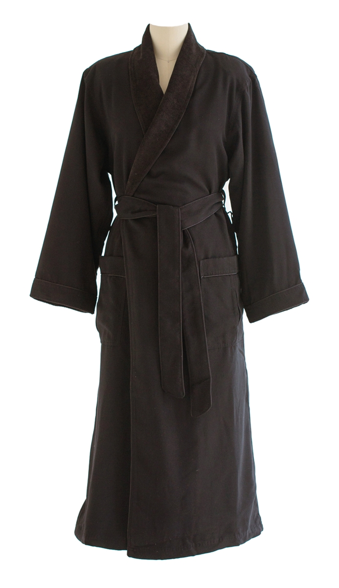 ce7283c787 Ultimate Doeskin Brushed Microfiber Bathrobe Lined in Terry
