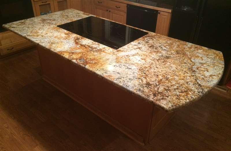Countertop Island Supports Hidden