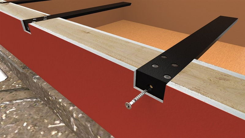 Hidden countertop supports and brackets standard plus for How to support granite countertop overhang