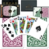 BURGUNDY/GREEN POKER CARDS