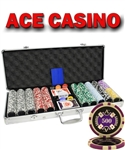 LAS VEGAS 500 CHIP SET WITH ALUMINUM CASE