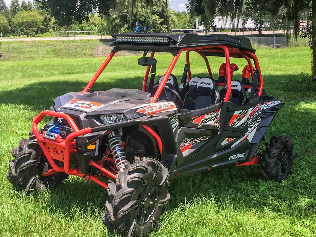 polaris rzr 4 900 1000 turbo crew led stereo roof top. Black Bedroom Furniture Sets. Home Design Ideas