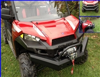 Polaris Ranger 900 and 570 Front Bumper Brush Guard with Winch Mount