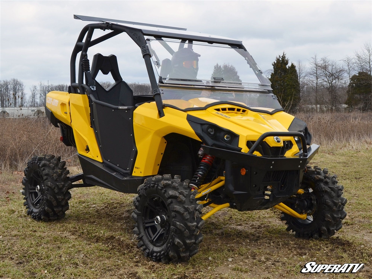Can-Am Commander Scratch Resistant Flip Windshield - SuperATV