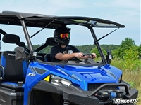 Ranger XP570 900 1000 Flip Up Scratch Resistant Windshield SuperATV