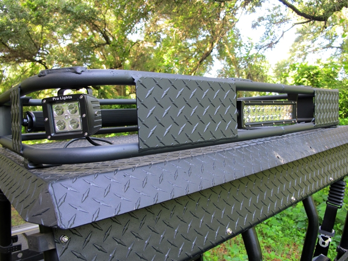 Polaris ranger led light bar roof rack 800 full size mozeypictures Gallery