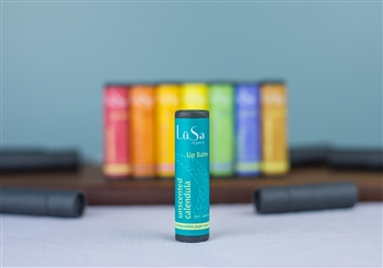 organic lip balm, chemical-free, avocado oil, castor oil, beeswax, evening primrose oil, calendula, spearmint, rosemary