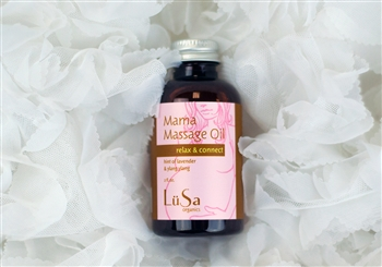 mama massage oil organic skin care lavender