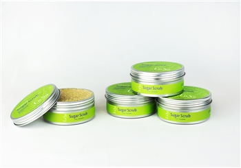 pure organic skin care natural mint sugar scrub