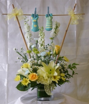Baby Boy Clothesline Bouquet