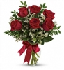 Thoughts of You Bouquet with Red Roses