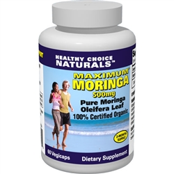 Our 100% pure Moringa capsules are loaded with over 90 nutrients and 46 antioxidants. Get 3 bottles for just $48.