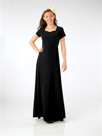Orchestra Black Floor Length Dress