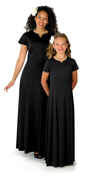 Savannah Crew V-Notch Neckline with Waist Band | Concert Dresses | Cousin's Concert Attire | Style #109