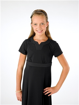 Savannah Crew V-Notch Neckline with Waist Band-Youth