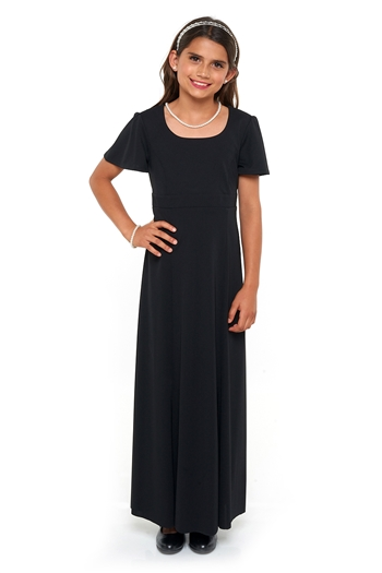 Christina Flutter Sleeve Scoop Neckline Dress- Youth