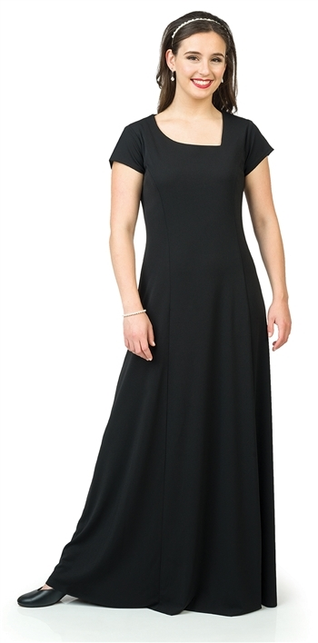 *NEW*  Emily Asymmetrical V Neckline Dress