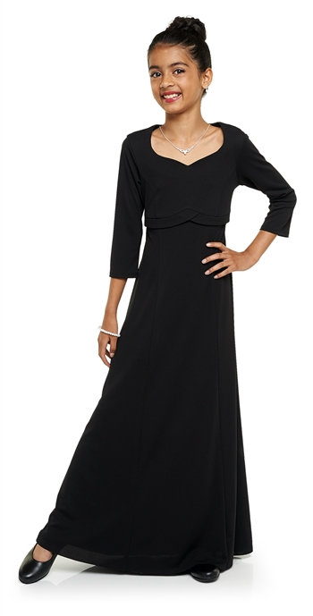 Charlotte Heart Shaped Neck Floor Length Dress- Youth