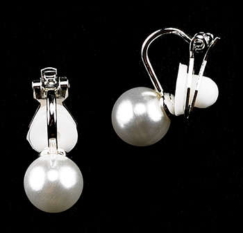 Strung Pearl Clip-On  Earrings