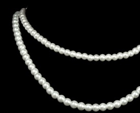 Double Strung Pearl Necklace