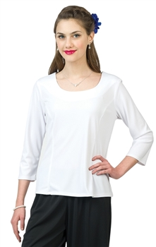 *NEW* Carrie Scoop Neckline Blouse