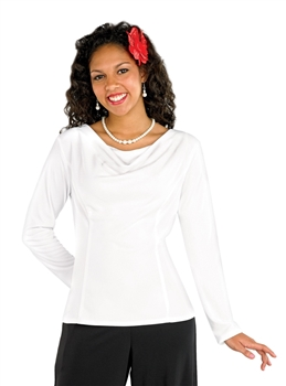 Amanda Long Sleeve Cowl Neck Blouse