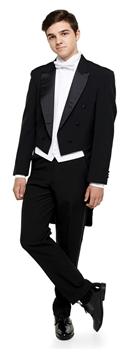 """Coby"" Basic Polyester Full Dress Tail Tuxedo Package"