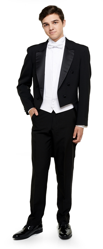 Coby Polyester Tail Tuxedo Coat