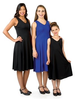 Libby Sleeveless V-Neck Swing Dress-Youth