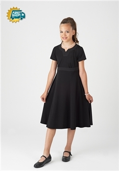 Tori Crew V-Notch Neckline Swing Dress-Youth