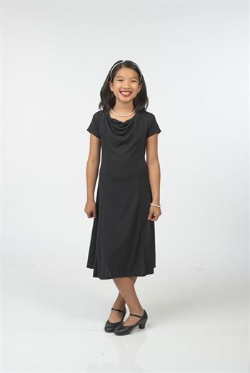 Paris Cowl Neck Swing Dress- Youth
