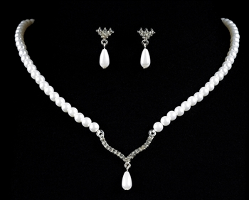 Pearl Teardrop Necklace Set