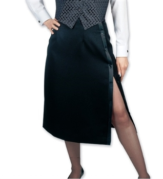 Ladies Side Slit Tuxedo Polyester Skirt