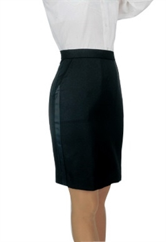Ladies Above-the- Knee Tuxedo Polyester Skirt