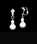 Pearl and Diamond Clip-on Earrings