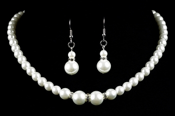 Strung Pearl & Diamond Necklace Set