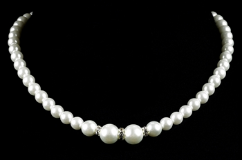 Strung Pearl & Diamond Necklace