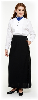 Ladies Long Tuxedo Polyester Skirt