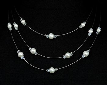 Triple Strung Pearl Necklace