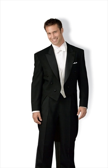 """Braxton"" All Wool Full Dress Tail Tuxedo Package"