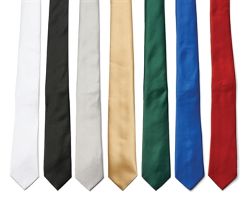 Color Poly Satin Neck Ties