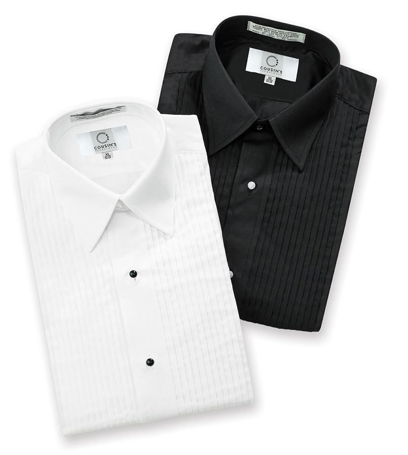 f155e65af06de3 Laydown Collar Tuxedo Shirts | Shirts | Cousin's Concert Attire