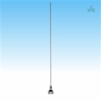 Antenna Wide Band 136-940 MHz, NMO, chrome mounting, 200 Watts rating.