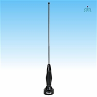 Antenna VHF 132-175 MHz, 1/4 wave, tunable, NMO mounting black with spring, 200 Watts raiting.