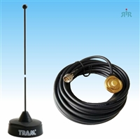 TRAM 1121B 1251 Set VHF 1/4 Wave NMO Antenna and Hole Mount