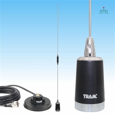 TRAM 1180-1235 Set of Dual Band UHF, VHF Mobile Antenna with Mount 1235